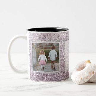 Lavendel-Glitzer-Tasse - entwerfen Sie Ihre Selbst Zweifarbige Tasse