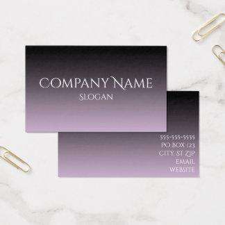 Lavendel graues und schwarzes Ombre Visitenkarte