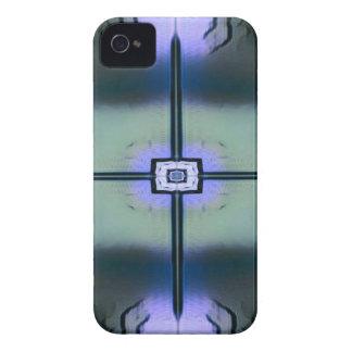 Lavendel-grünes schwarzes modernes symmetrisches Case-Mate iPhone 4 hüllen