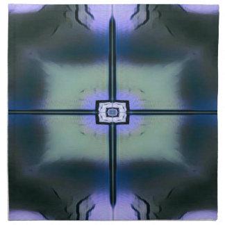 Lavendel-grünes schwarzes modernes symmetrisches stoffserviette