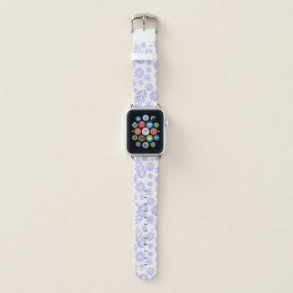 Lavendel-Hand gezeichnetes Blumenmuster Apple Watch Armband