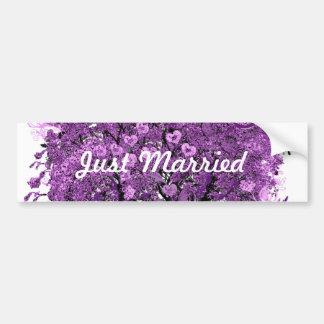 Lavendel-Herz-Blatt-Baum-Hochzeit Autosticker