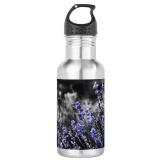 Lavendel in Schwarzweiss Edelstahlflasche