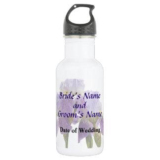 Lavendel-Iris-Paar-Hochzeits-Versorgungen Edelstahlflasche