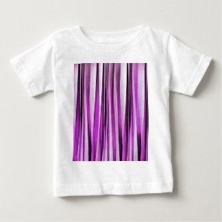 Lavendel-, Iris-und Trauben-Stripy Muster Baby T-shirt