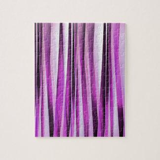 Lavendel-, Iris-und Trauben-Stripy Muster Puzzle