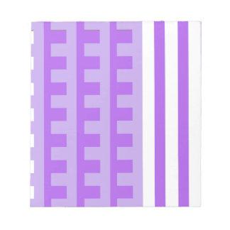 Lavendel kämmt Zahn Notizblock