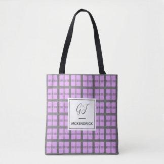 Lavendel-Karo Tasche