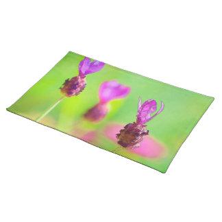 Lavendel-Knospen-Malerei-Stoff-Tischset Stofftischset