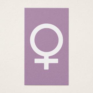 Lavendel-Kraut-Frau-Symbol Visitenkarten