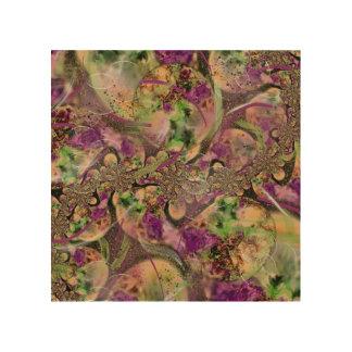 Lavendel kreist abstrakten Entwurf ein Holzwanddeko