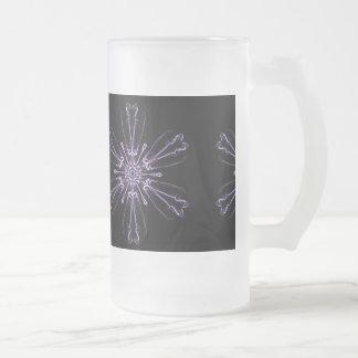 Lavendel-Kristall 16-Unze-mattierte GlasTasse Mattglas Bierglas