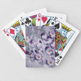 Lavendel-Krokus-Flecken Bicycle Spielkarten