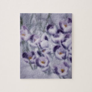 Lavendel-Krokus-Flecken Puzzle