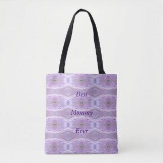 Lavendel-künstlerisches Muster-'beste Mama Ever Tasche