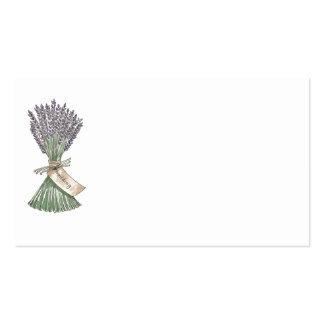 Lavendel-Land-Garten-Hochzeits-Ortsnamekarten Visitenkarten