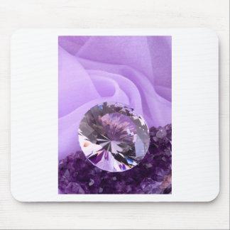 Lavendel-lila Amethyst Diamant Mousepad