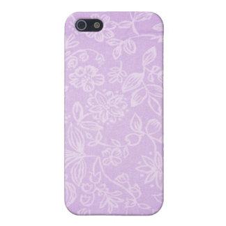 Lavendel-lila Blumengewebe-Muster iPhone 5 Etui