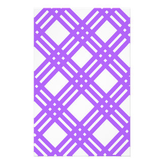 Lavendel-lila Gitter Briefpapier
