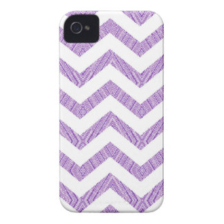 Lavendel-lila weißes Zickzack Muster iPhone 4 Case-Mate Hülle