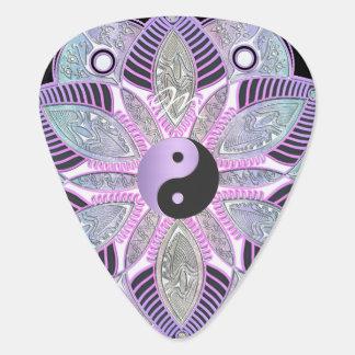 Lavendel lila Yin Yang Lotos-BlumeMandala Plektron