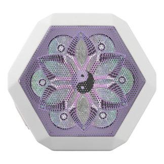 Lavendel lila Yin Yang Lotos-BlumeMandala Weiße Bluetooth Lautsprecher