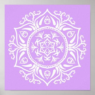 Lavendel-Mandala Poster