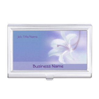 Lavendel mit Blumen Visitenkarten Dose
