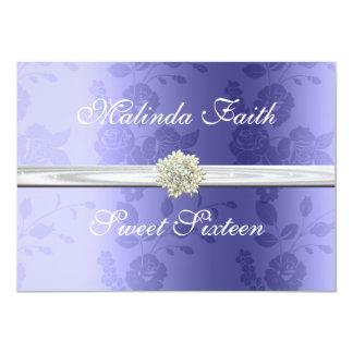 Lavendel mit Perlen-16. Geburtstag-Einladung