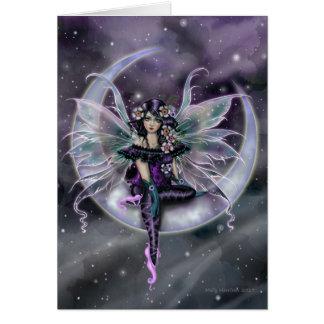Lavendel-Mond-feenhafte Fantasie-Kunst durch Molly Karte