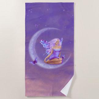 Lavendel-Mond - Schmetterlings-Fee Strandtuch
