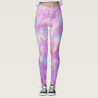 Lavendel OpalBokeh, Rosa, blau Leggings