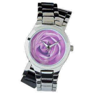 Lavendel-Rosendruck Armbanduhr