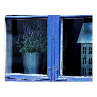 Lavendel-Shabby Chic-Hütten-Postkarte Postkarten