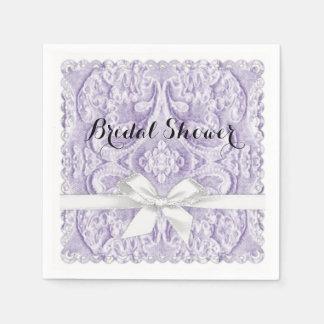Lavendel-Spitze mit Band Serviette