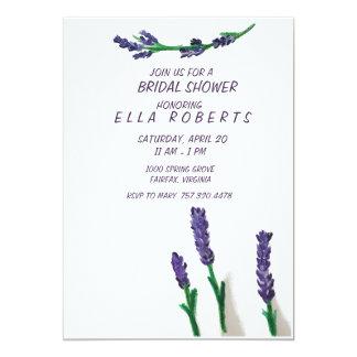 Lavendel stellt Brautparty-Einladung auf Karte