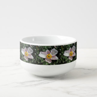Lavendel-Strand-Pflaumen-Rosen-Blume Große Suppentasse