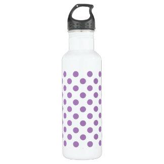 Lavendel-Tupfen auf Weiß Edelstahlflasche