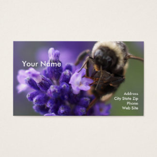 Lavendel und Biene Visitenkarte