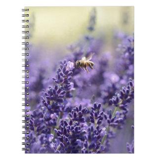 Lavendel und Bienen Spiral Notizblock