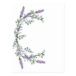 Lavendel und Eukalyptus Postkarte