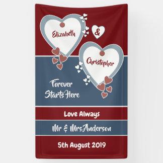 Lavendel-und Flieder-Hochzeits-Hintergrund Banner