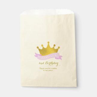 Lavendel-und Goldprinzessin Tiara Birthday Party Geschenktütchen