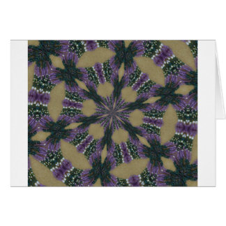 Lavendel und grünes kaliedoscope karte