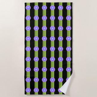 Lavendel-und Indigo-Kreis-Minimalismus-Muster Strandtuch