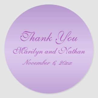 """Lavendel und lila 1,5"""" rund danken Ihnen Aufkleber"""