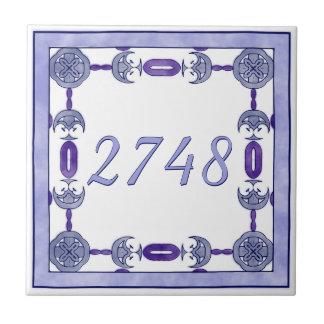 Lavendel und lila kleine Hausnummer Fliese