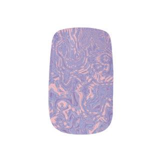 Lavendel und rosa Wirbel Minx Nagelkunst