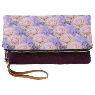 Lavendel und Rosen Clutch