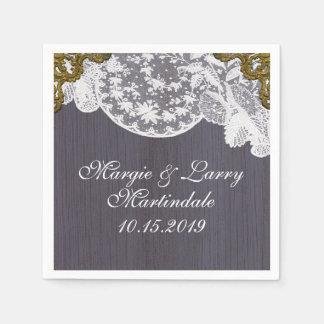 Lavendel und Spitze Vintag Papierserviette